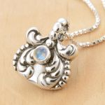Moonstone Spoon Pendant by metalsmitten