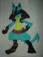 Lucario Best Drawing by FlyingLion76