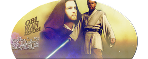 May the Force be with you ~ Obi-Wan Kenobi by frozenrobot