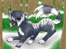 Shadowpetal likes the Snow! by EspeonUmbreonLover