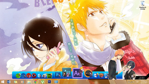 IchiRuki - rocketdock skin by brenar406