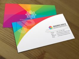 Rainbow petals business card 2 by Lemongraphic