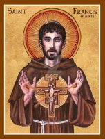 St. Francis of Assisi icon by Theophilia