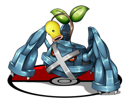 Commission - Metagross and Bellsprout