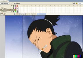 Cry Shikamaru Asuma Death by llerena