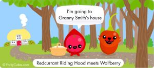 Redcurrant Riding Hood meets the Wolfberry by FruityCuties