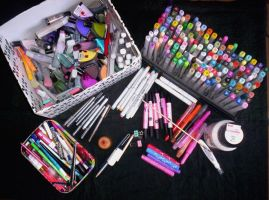 Art Supplies - My Precious by pink-gizzy