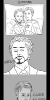 Marvel: Steve/Tony [post Civil War] by SarlyneART