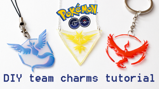 Pokemon GO DIY team charms tutorial by FrozenNote