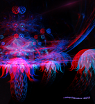 Flowers of Nibiru 1  Anaglyph 3D Stereoscopy by Osipenkov