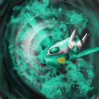 shiny Latios :D by DemonNagareboshi