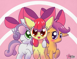 Fillies in Pink by CloudDG