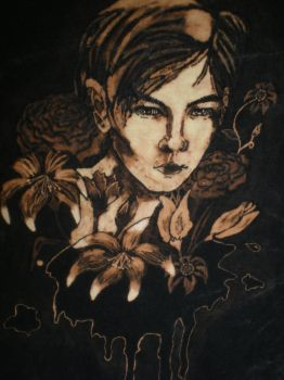 Flowers of Evil Bleach painted T shirt 3 by raewhitewolf