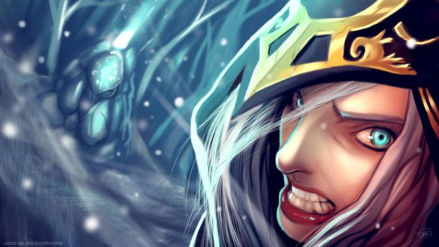 Ashe League of Legend by juliodelrio