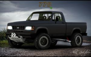 Chevy D20 - Black Monster by allanrodighero