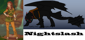 Me in HTTYD and my dragon by RaindropLily