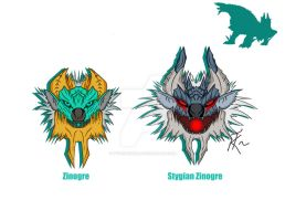Zinogre Family by TyvridKizuna