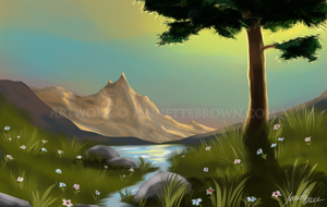 Landscape Speedpaint by sugarpoultry