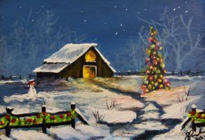 ACEO Country Christmas #4 by annieoakley64