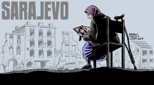 The Siege of Sarajevo by Latuff2
