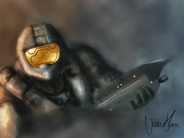Halo Master Chief by NicolaHynes