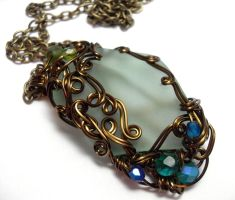 Shadowsea Pendant no. 10 by sojourncuriosities