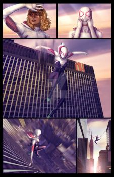 Spider-Gwen Sample page 2 by MetaWorks