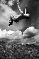 Backflip B-W by necroparkour