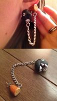 Chain Chomp Double-Earring by Gatobob