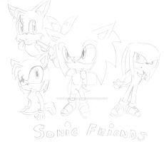 Sonic and Friends by sira-the-hedgehog