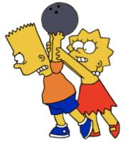 Lisa and Bart bowling by Locke831