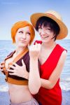 ONE PIECE - Luffy x Nami by Hasadosh