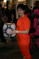 Chell- Megacon 2009 by SeiakuCosplay