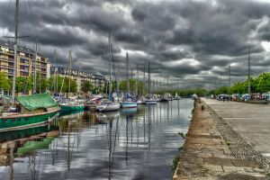Docks Caen Calvados France by hubert61