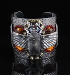 Silver scarab cuff by bchurch