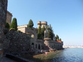 Castle on the sea by Altair-E-Stock