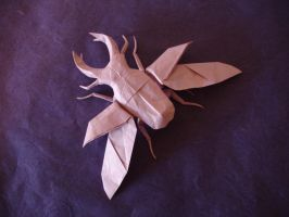 Origami stag Beetle Diagrammed Version by origami-artist-galen