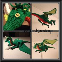Crochet Dragon Home Decor Sculpture by Create-A-Pendant