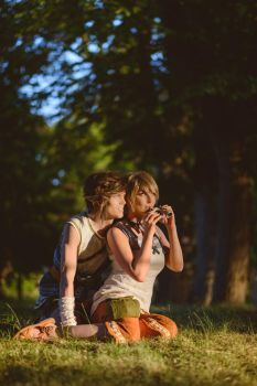 Zelda Twilight Princess - Link and Ilia horsecall by UltraCosplay