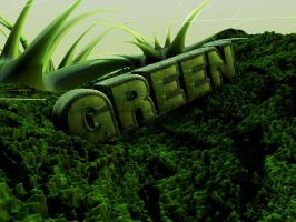 "C4D - ""Green"" typography by b4ddy"