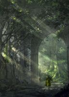 Dense forest by VplusY