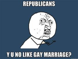 Y U NO gay marriage by PurplePhoneixStar