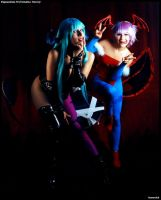 Morrigan and Lilith by RinaMx