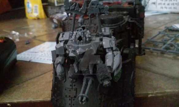 Ork battel wagon hood mount by theunknownemo