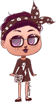 Spooky hipster chibi by Anolee