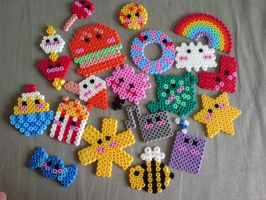 mine and lotties hama beads by monkee247