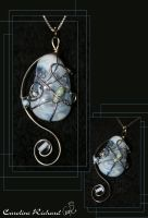 Blue Spring Pendant by CaroRichard