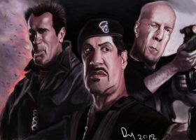 The Expendables 2 Caricature by danb13