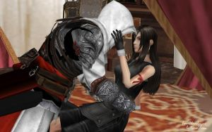 Tifa x Ezio -Chaosbayne's request- by Dark6Nika
