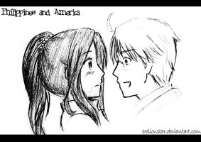 Philippines and America by ExelionStar
